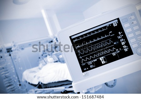 monitor in the ICU ward
