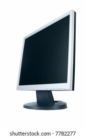 monitor isolated over white background