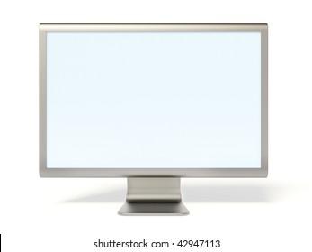 monitor on white background