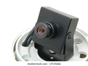 Monitoring camera without protective covering in the studio