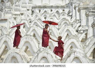 monk burma Novices in Myanmar