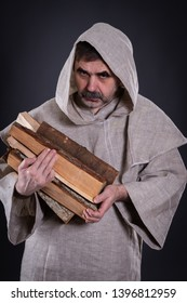 The monk carries firewood to his abode