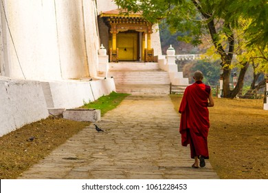 Monk at Punakha Dzong