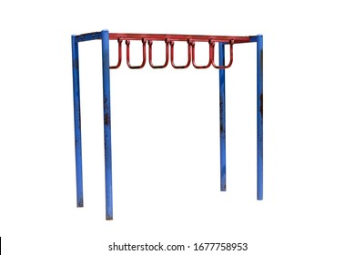 Monkey bars isolated on white background,with clipping path. playground