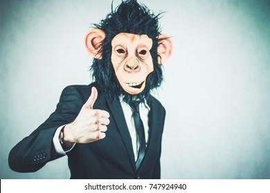 monkey business man