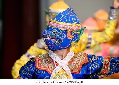 Monkey is character in drama Ramayana. The highest performing arts of Thailand.