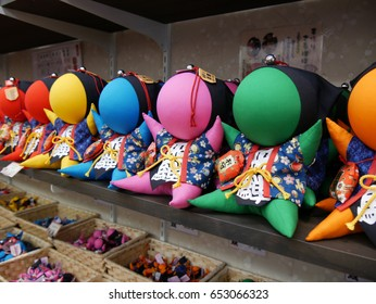 The monkey doll called sarubobo in Takayama, Japan (foreigner words mean Hida city and good luck)