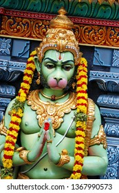 Monkey god Hanuman Nov 3rd 2018. Hanuman is an ardent devotee of Rama. Hanuman is the son of Anjani and Kesari and is also son of the wind-god pawan, who according to several stories