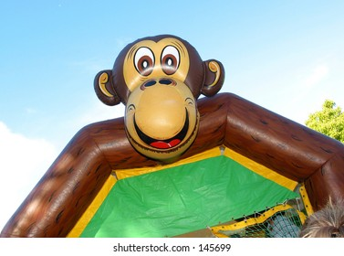 Monkeying Around... a kids outdoor bouncing castle...