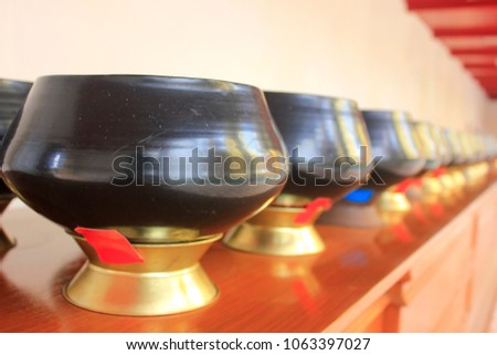 Monks Bow Put Coins Bowl Stock Photo (Edit Now) 1063397027 ... d0a4c4887