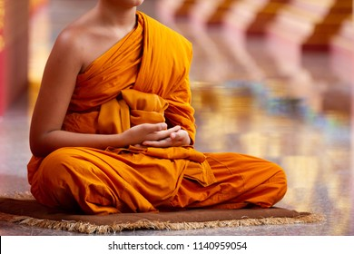 Monks meditating in temples