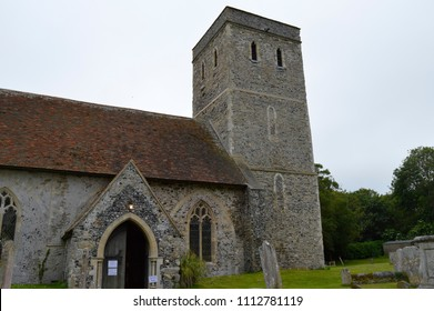MONKTON, KENT/UK-JUNE 10 2018: The Historic church of St Mary Magdalene in Monkton. There was a church on the site before the Domesday survey of 1086. The church dates from circa 1190