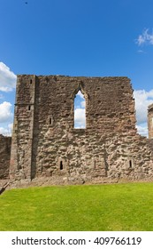 Monmouth Castle Monmouthshire Wales uk ruins of building and birthplace of Henry V of England Wye Valley tourist attraction