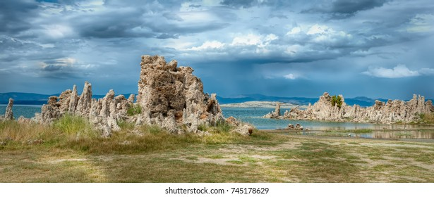 Mono Lake in Northern California located in the Great Basin of the Sierra Mountain Range.