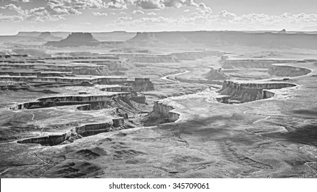 Monochromatic photo of Canyonlands National Park, Utah, USA