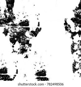 Monochrome abstract grunge background. The patterns of stains, cracks, scratches black and white