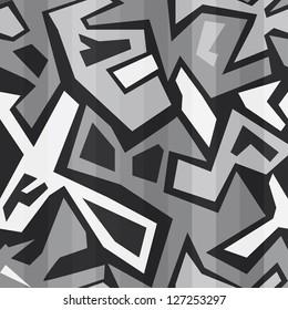 monochrome graffiti seamless (raster version)