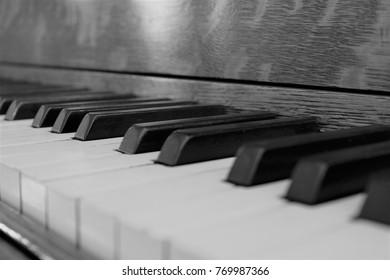 monochrome piano keys