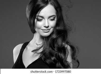 Monochrome woman beauty face healthy skin female cosmetic