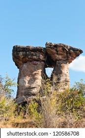 Monolithic giants,Ban Pa sun in Ubon Ratchathani