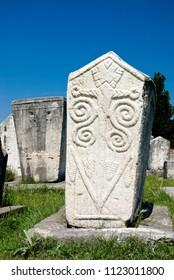 Monolithic tombstones dated 13th to 15th century, Radimlja necropolis, Stolac, Bosnia and Herzegovina
