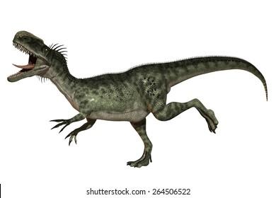 Monolophosaurus Dinosaurs - seperated on white background