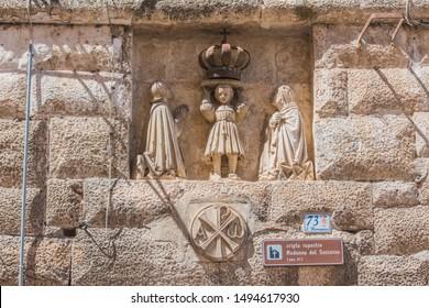 MONOPOLI, Italy - 20 August 2019. Rocky Sanctuary of Madonna of Soccorso (Santuario Rupestre della Madonna del Soccorso) in the old town.