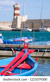 Monopoli Italy, September 2018. View of the port at Monopoli in Puglia. Photographed on a beautiful sunny day in late summer.
