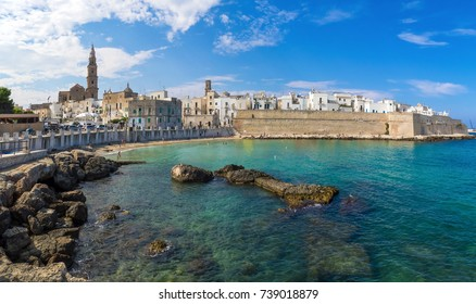 Monopoli (Italy) - A white city on the the sea with port, province of Bari, Apulia region, southern Italy