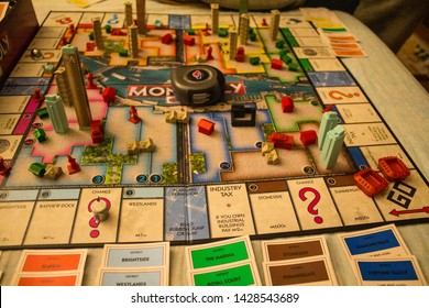 Monopoly City board game in action