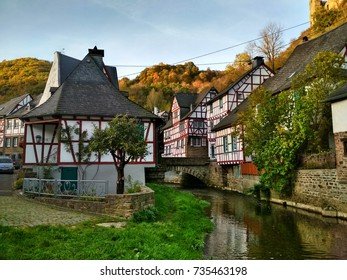 Monreal, one of the most beautiful towns in the Eifel, Germany.