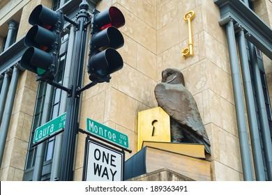 Monroe street in downtown Jacksonville, Florida.