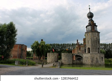 Mons, Belgium. The Chateau d'Havre (Havre Castle), a ruined castle in the village of Havre in the town of Mons, province of Hainaut