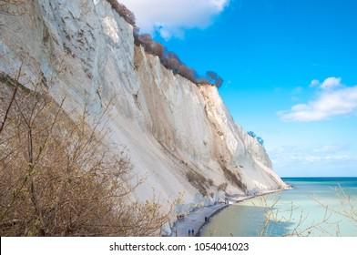 Mons Klint cliff in Denmark on a spring day