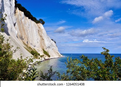 Mons Klint in the island of Mon in the Baltic Sea