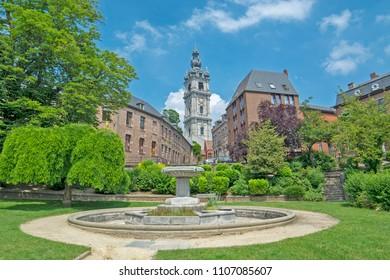 Mons, Wallonie, Belgium - baroque Belfry El Catiau built in the 17th century