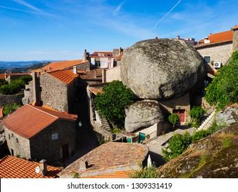 Monsanto, Castelo Branco / Portugal - March 31 2018: Monsanto village rooftops