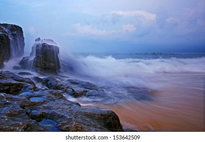 Monsoon - A scenery of a beach in Terengganu, Malaysia