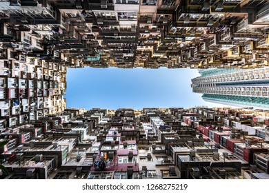 Monster Building in city - Hong Kong
