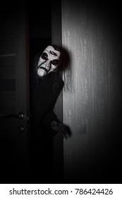 Monster comes into the door