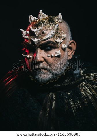 Monster Thorns On Head Glowing Golden Stock Photo Edit Now