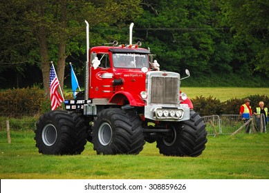 Monster Truck Challenge at Truckmania, Beaulieu, England - May 24, 2015: The Big Pete at Truckmania