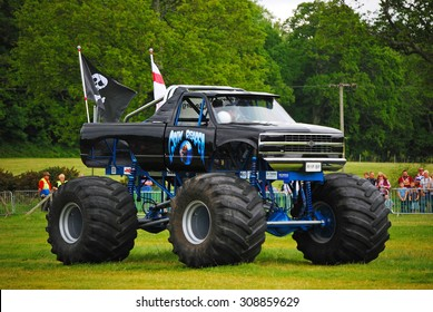 Monster Truck Challenge at Truckmania, Beaulieu, England - May 24, 2015: The Grim Reaper at Truckmania