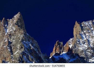 Mont Blanc (4810m) in Haute Savoie, France, Europe