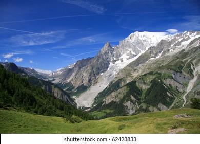 Mont Blanc and the Aiguille Noire