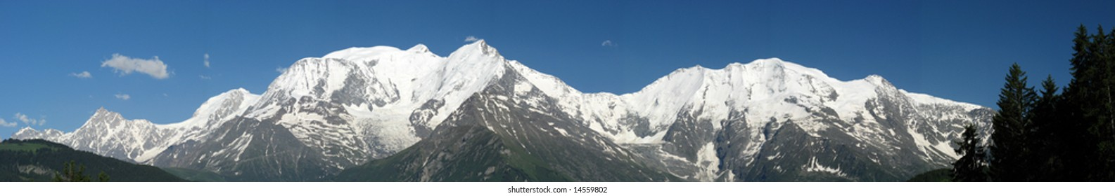 Mont Blanc from the Bettex (Saint Gervais, France)