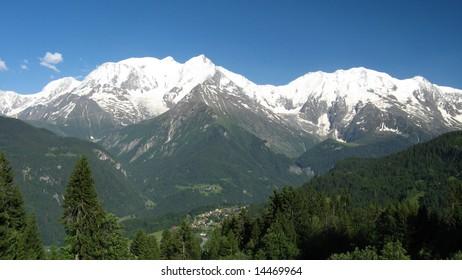 Mont Blanc from Bettex (Saint-Gervais)