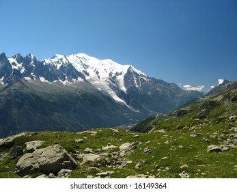 Mont Blanc from Chamonix