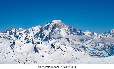 Mont Blanc, clear sky, from Agile Rouge