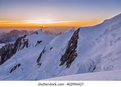 Mont Blanc climbing